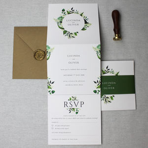 Botanical Wedding Invitation Suite - invitations