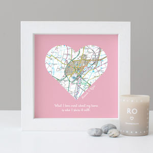 Personalised 'My Home' Map Print - family & home