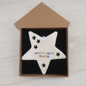 Personalised Birthday Gift Star Decoration