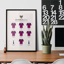 Personalised Junior Rugby Team Kit Print