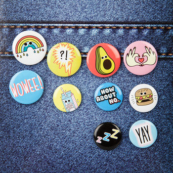 10 Cheeky Emoji Inspired Badges
