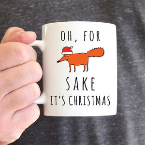 For Fox Sake It's Christmas Ceramic Mug