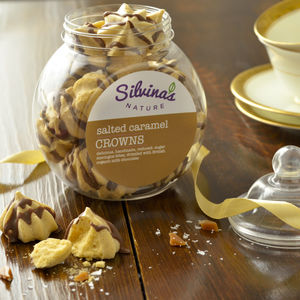 Salted Caramel Meringue Crowns Jar - cakes & sweet treats