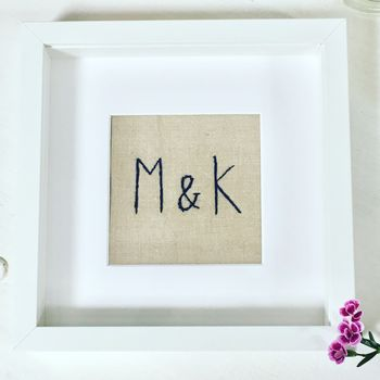 Personalised Couples' Initial Embroidered Picture