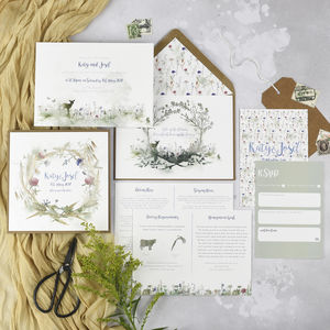 'Wildflower' Wedding Invitations - invitations