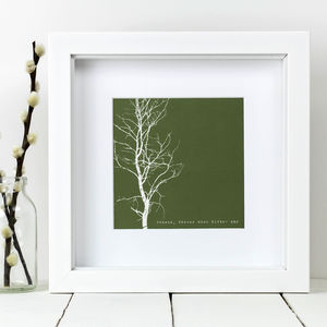 Framed 'Freeze, Freeze Thou Bitter Sky' Tree Print - posters & prints