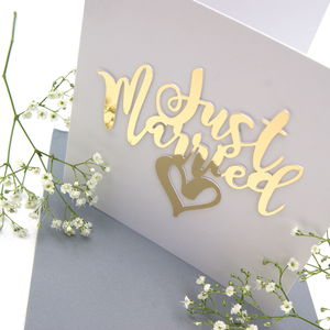 Just Married Wedding Card - wedding cards
