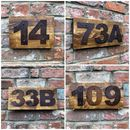 Reclaimed Pine And Metal House Wall Door Numbers