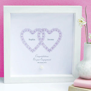 Personalised Engagement Entwined Hearts Gift - engagement gifts