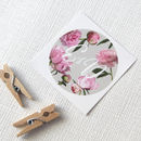 Personalised Peony Floral Stickers