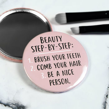 Be A Nice Person Pocket Mirror