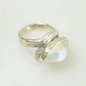 Aaliyah Pear Ring Moonstone And Silver