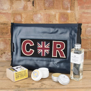 Personalised Tarpaulin Hanging Shower Bag - wash & toiletry bags