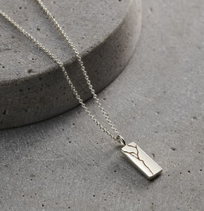 Personalised Kintsugi Tag Necklace