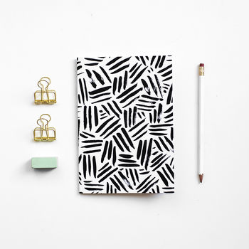A5 Patterned Notebook Criss Cross