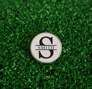 Personalised Name And Initial Golf Ball Marker