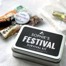 Personalised Festival Survival Tin With Hangover Kit