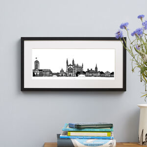 Cambridge Skyline Screen Print