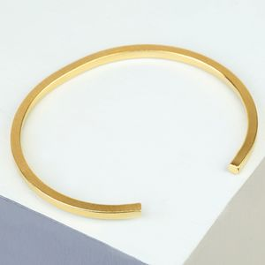 Men's Brushed Bar Bangle