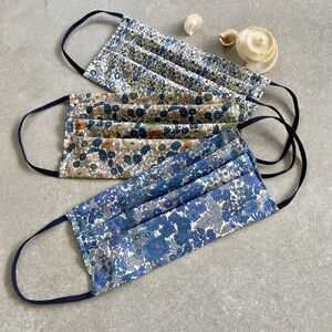 Liberty Print Pleated Face Mask And Optional Pouch