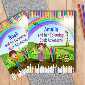 Personalised Childrens Colouring Book Adventure - stocking fillers for babies & children
