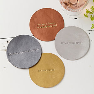 Personalised Metallic Coaster - placemats & coasters