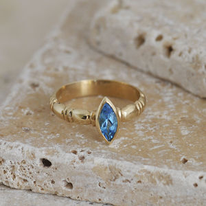 Blue Topaz Ring - rings