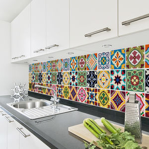 Talavera Tile Decal Sticker Set Pack Of 24 - decorative accessories