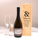 Personalised Mr And Mrs Prosecco Gift Set