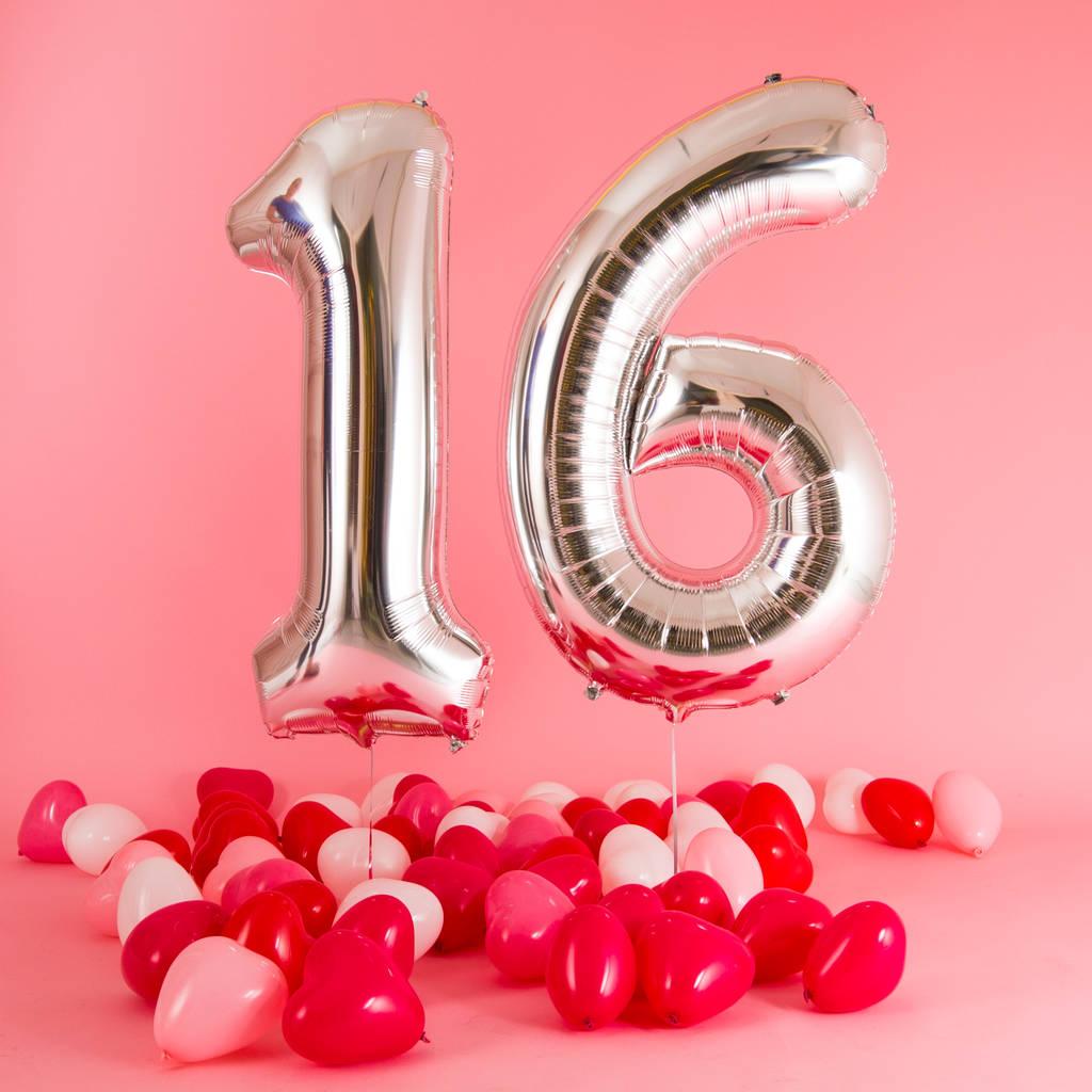 Happy 16th Birthday Balloons