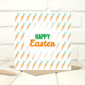 Carrots Easter Greetings Card - new in