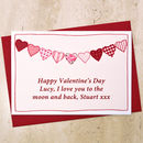 Personalise the Valentines Card for your husband, wife, boyfriend or girlfriend with your own wording