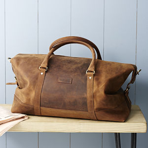Vintage Leather Somerset Holdall - 50th birthday gifts