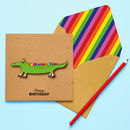 Handmade Crocodile Personalised Birthday Card