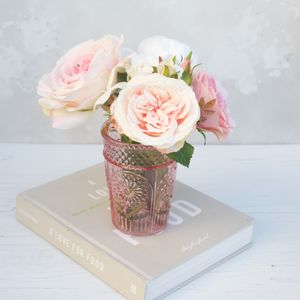 Bouquet Of Roses In Pink Vase