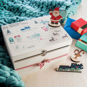 North Pole Personalised Christmas Eve Box - keepsakes