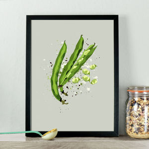 Broad Beans Vegetable Kitchen Print - posters & prints