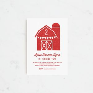 20 Barn Bash Personalised Birthday Party Invitations
