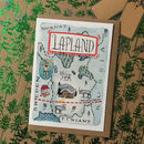 Map Of Lapland Pack Of Christmas Cards