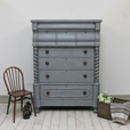 Large Imposing Victorian Scotch Chest Of Drawers
