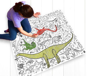 Colour In Poster Tablecloth Dinos *Personalise It