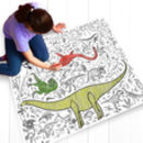 Colour In Giant Poster Tablecloth Dinosaur