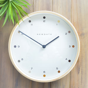 Newgate Round Wooden Wall Clock
