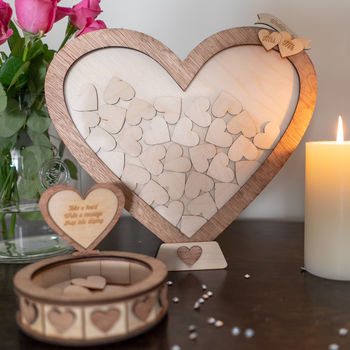 Personalised Wedding Heart Drop Frame