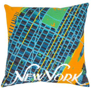 Contemporary New York City Map Tapestry Kit - creative kits & experiences