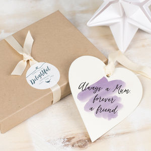 Personalised Watercolour Heart Token - mother's day gifts