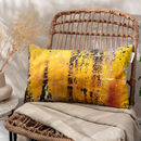 Yellow With Charcoal Slim Cushion Cover 'Nomad Texture'