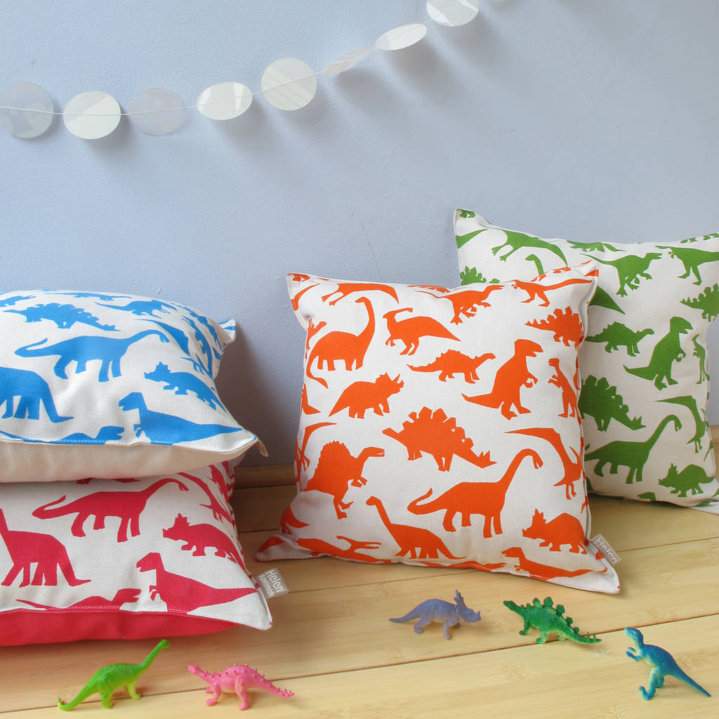 Children's Dinosaur Print Cushion