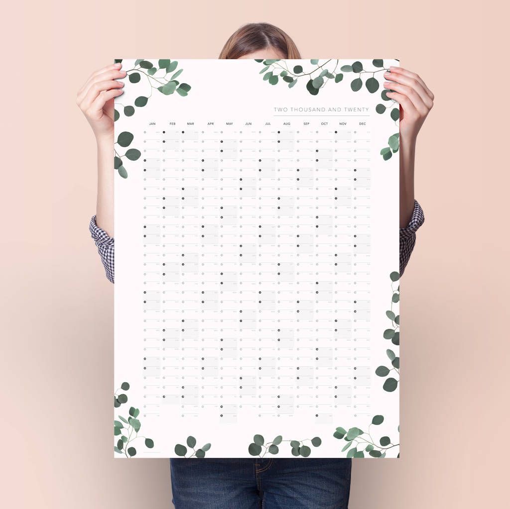 2020 Eucalyptus Year Planner by Doodlelove