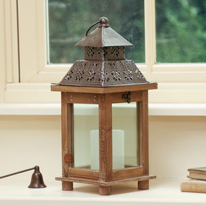 Traditional Ornate Country Wooden Lantern